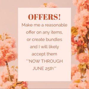 Taking offers & bundles